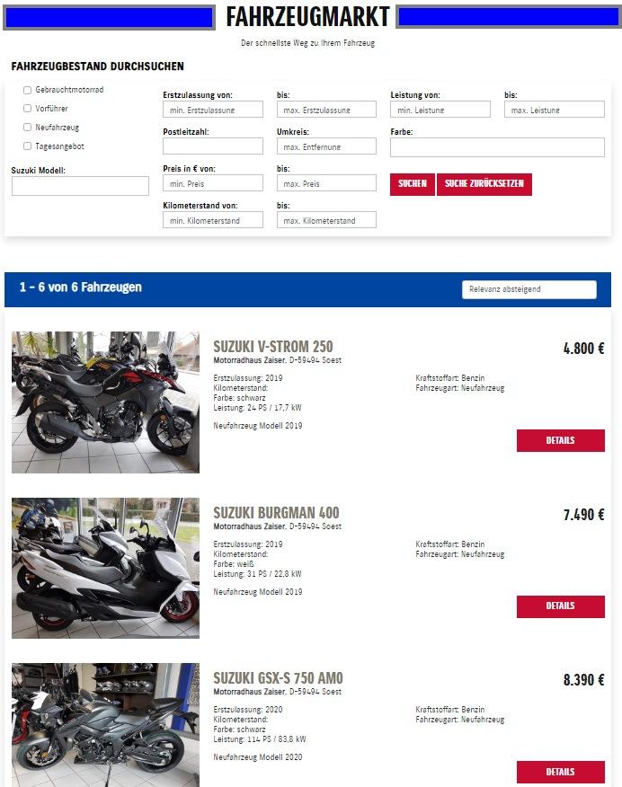 1000 PS.de Fahrzeugmarkt SUZUKI ZAISER
