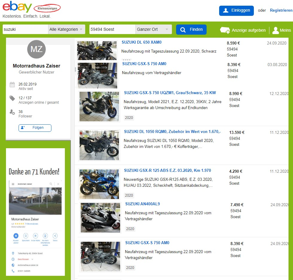 ebay-kleinanzeigen Link